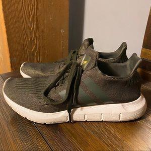 Women's Adidas Swift Run Shoes - Olive